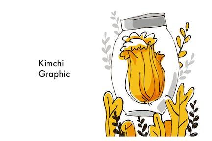 Kimchi famous healthy Korean food