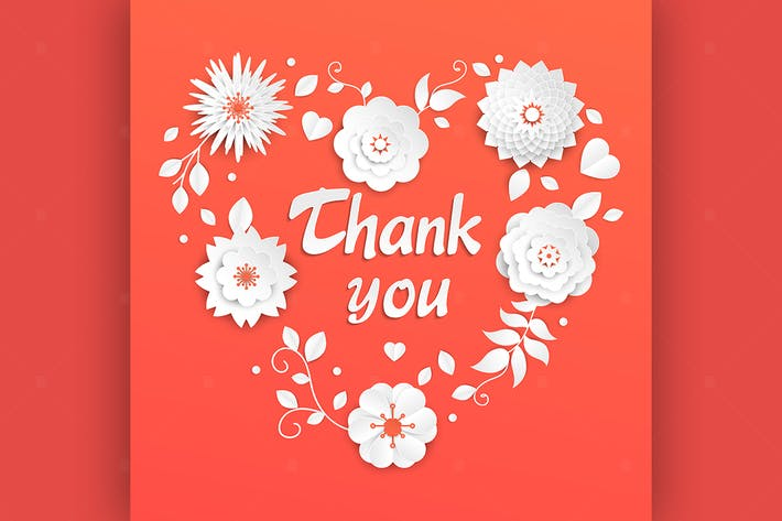 Thumbnail for Thank you - modern vector colorful illustration