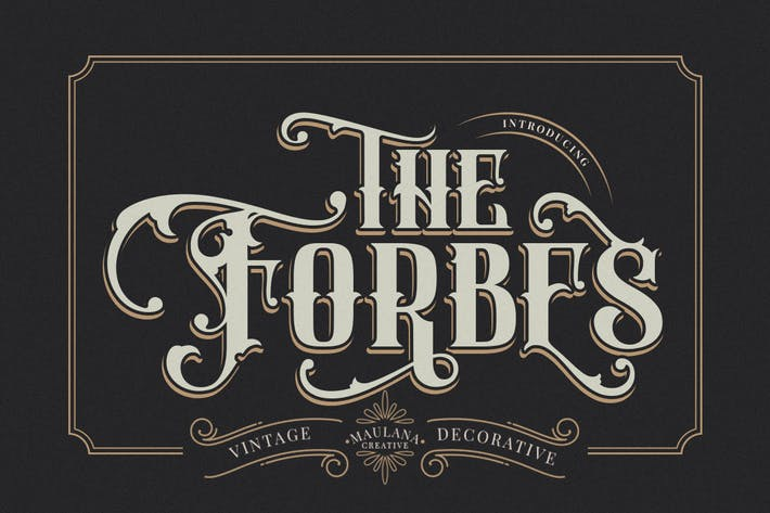 Thumbnail for FORBES - Modern Vintage Font