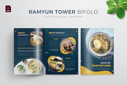 Ramyun Tower | Bifold Brochure