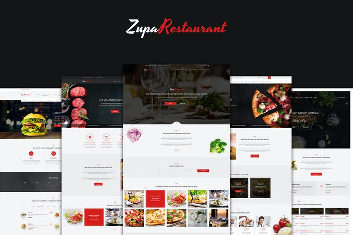 Thumbnail for ZupaRestaurant – Restaurant PSD Template