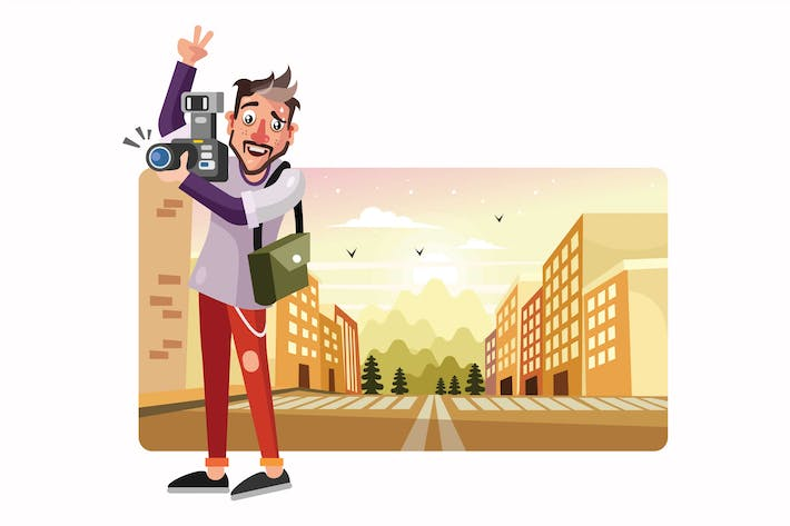 Thumbnail for Photographer Vector Illustration