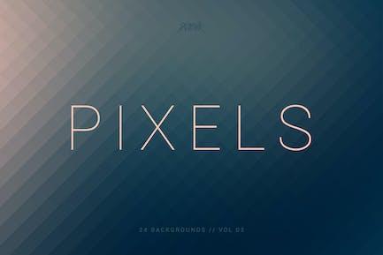 Pixels | Pixelated Backgrounds | Vol. 03