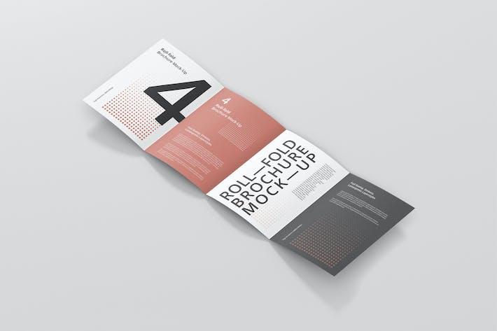 Gate Fold Roll Brochure Mockup by bangingjoints on Envato