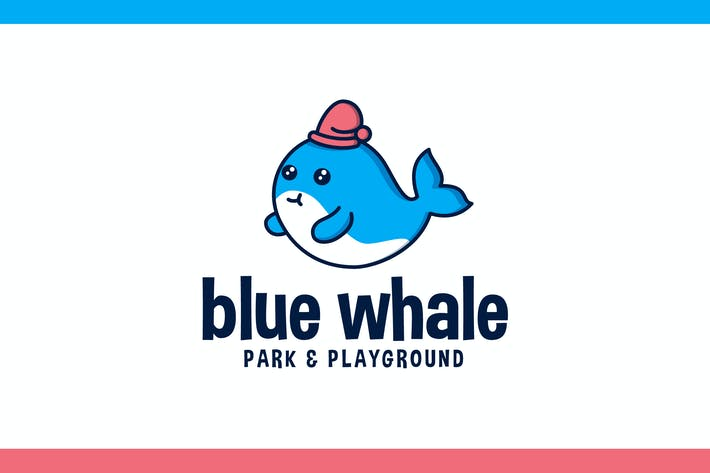 Cover Image For Cartoon Cute Whale Character Mascot Logo