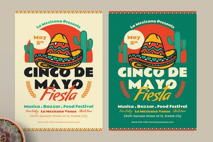 Cinco De Mayo Fiesta Flyer