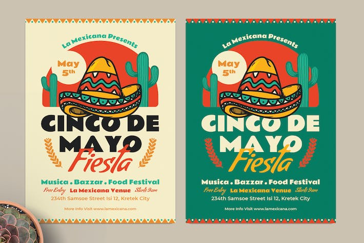 Thumbnail for Cinco De Mayo Fiesta Flyer