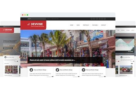 Devvine - Modern & Clean Responsive Site Template