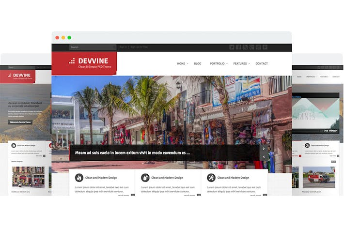 Thumbnail for Devvine - Modern & Clean Responsive Site Template