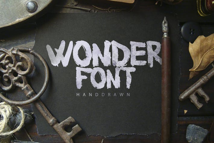 Cover Image For Wonderfont Brush Typeface