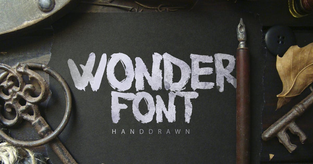 Download Wonderfont Brush Typeface by PereEsquerra