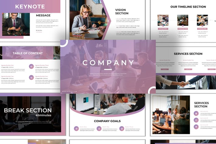Cover Image For Company - Business Keynote Template
