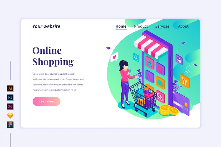 Thumbnail for Agnytemp - Online Shopping Flat Isometric