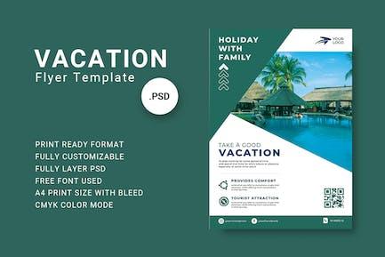 Vorlage für Urlaubs-Flyer