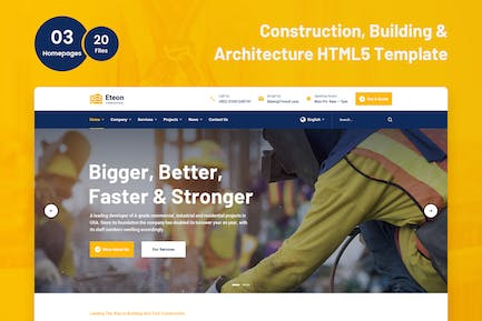 Eteon - Construction and Building HTML5 Template