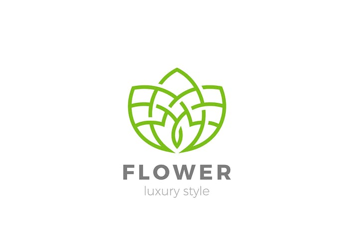 Thumbnail for Flower Logo abstract design Outline Linear style