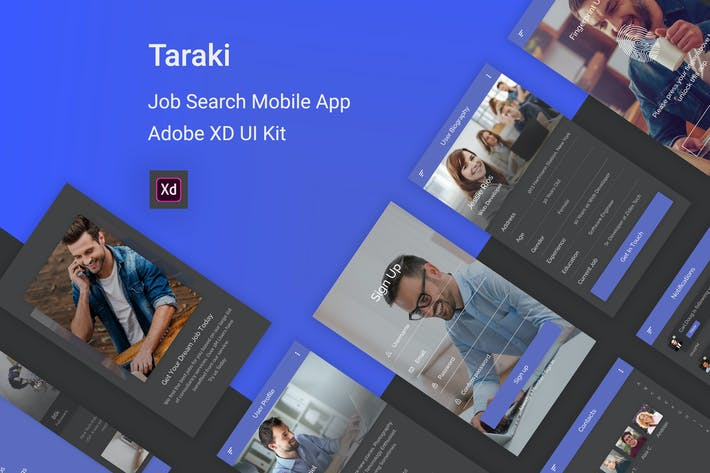 Thumbnail for Taraki - Job Search Adobe XD UI Kit