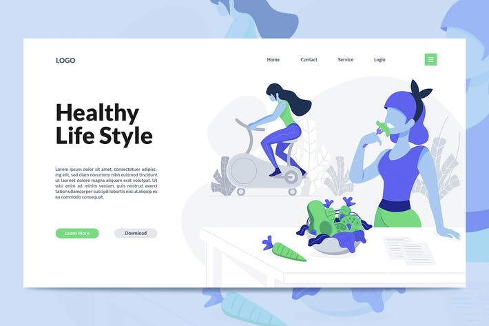 Thumbnail for Healthy Life Creative Landing Page Template