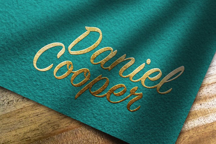Thumbnail for Logo Mockup Textured Paper and Gold