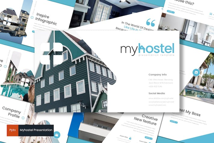 Thumbnail for Myhostel - Powerpoint Template