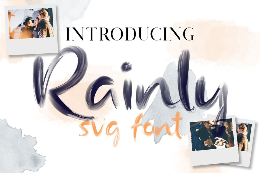 Rainly - Brush & SVG Font.