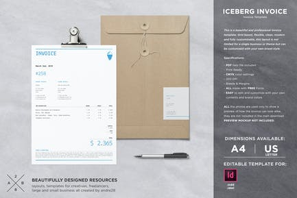 Iceberg Invoice Template