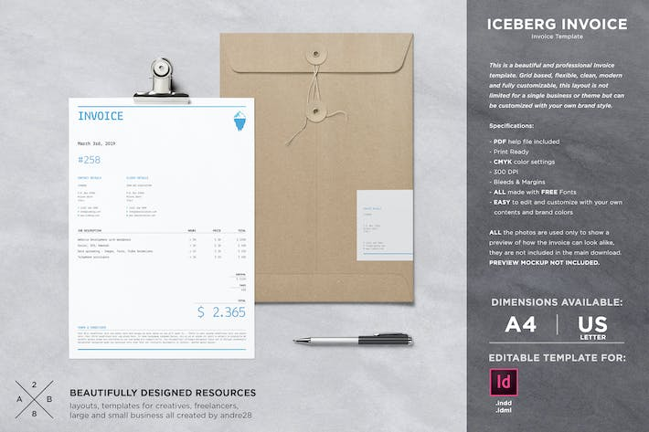 Thumbnail for Iceberg Invoice Template