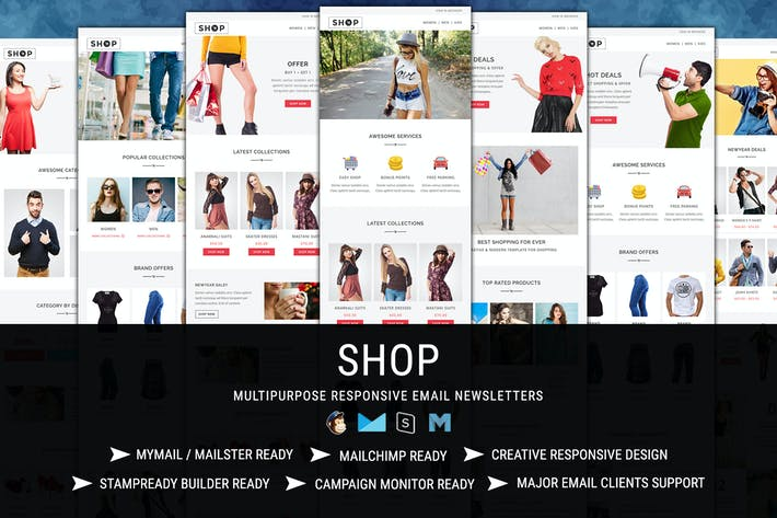 SHOP - Responsive Shopping Email Pack