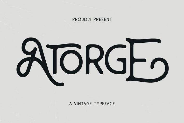 Thumbnail for Atorge Vintage Typeface