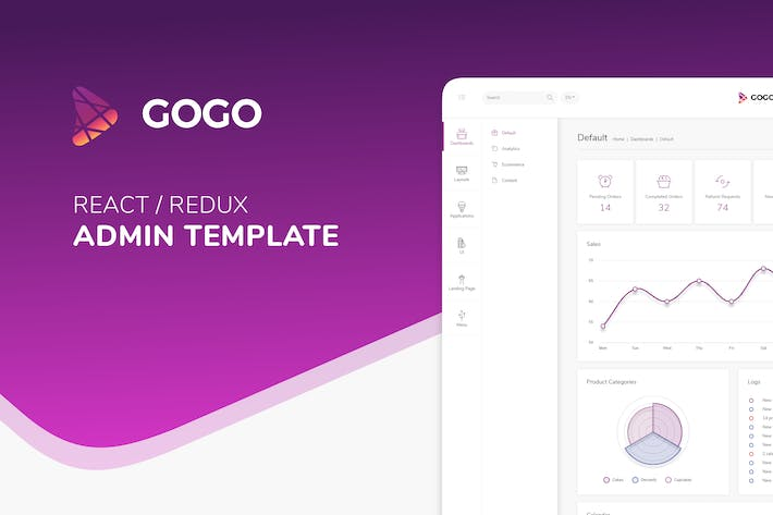 Thumbnail for Gogo React - React Admin Template
