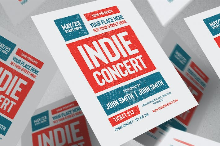 Cover Image For Indie Concert Flyer