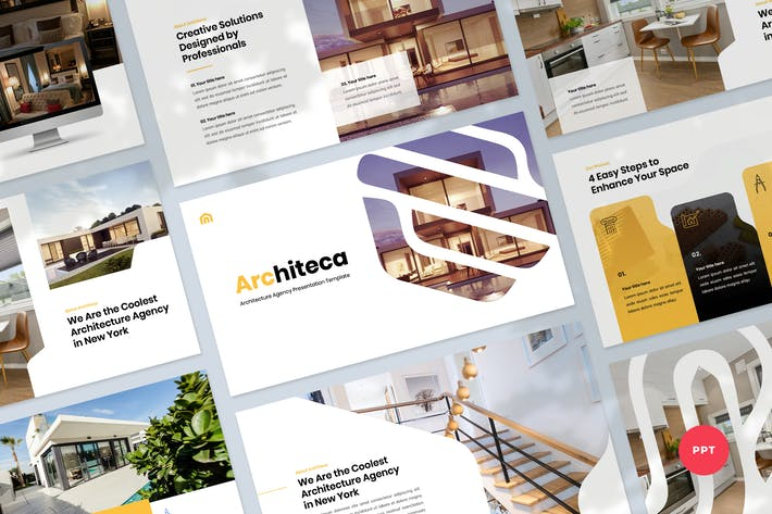 Thumbnail for Architecture Agency & Design Template PowerPoint