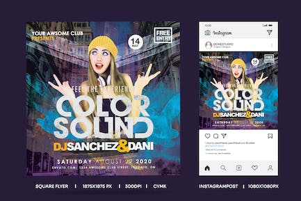 QuareFlyer & Instagrampost Color Sound Experience