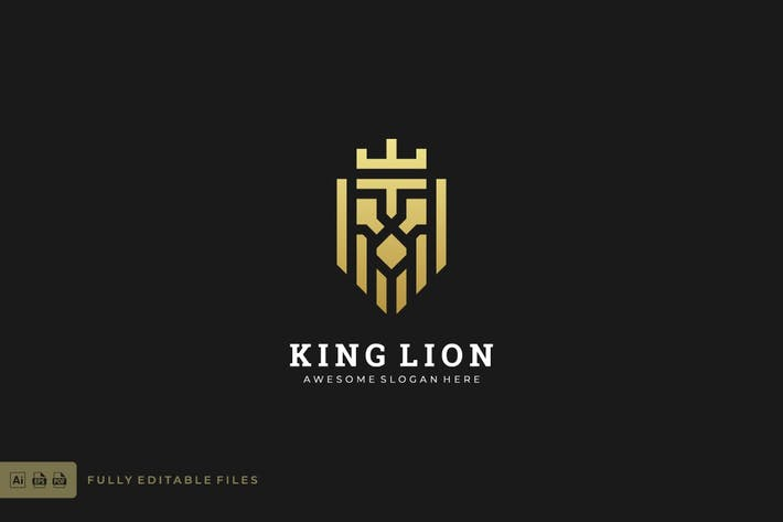 Thumbnail for Abstract Lion King Logo Template