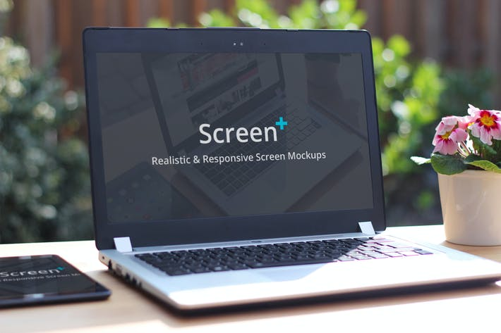 Thumbnail for ScreenPlus - Realistic & Responsive Screen Mockups