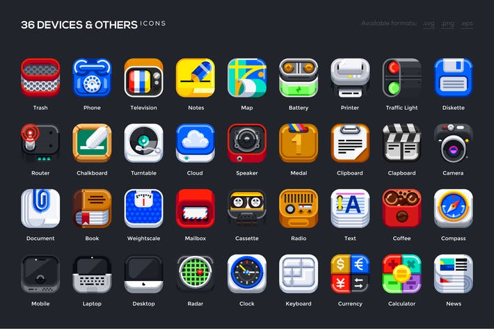 Thumbnail for 36 Device & Other Icons