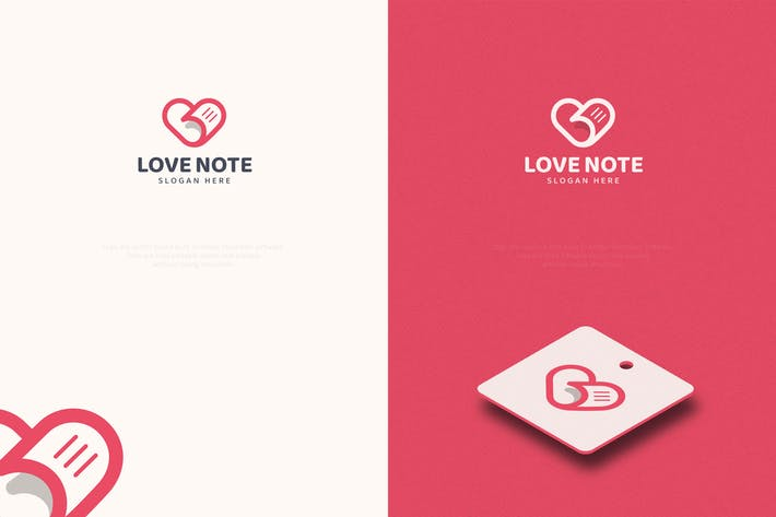 Thumbnail for Love Note Logo Template
