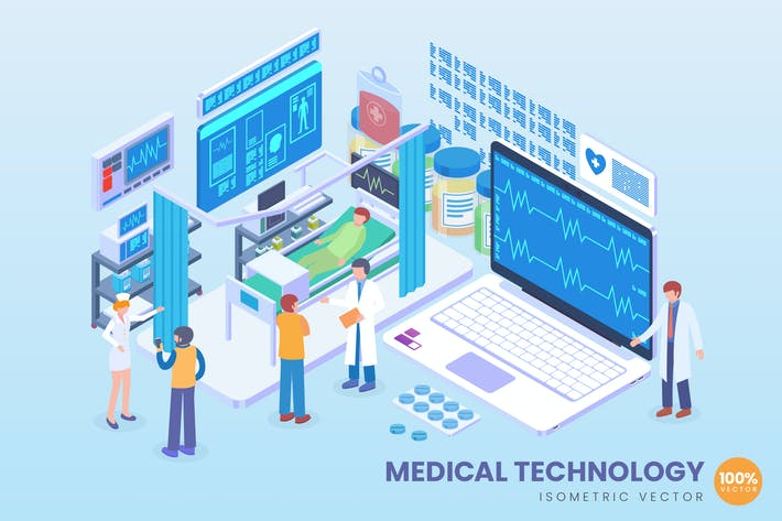 Thumbnail for Isometric Medical Technology Vector Concept