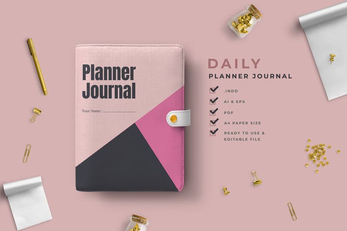 Thumbnail for Grey – Personal Planner Journal