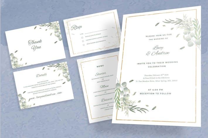 Cover Image For Botanical Wedding Invitation Set