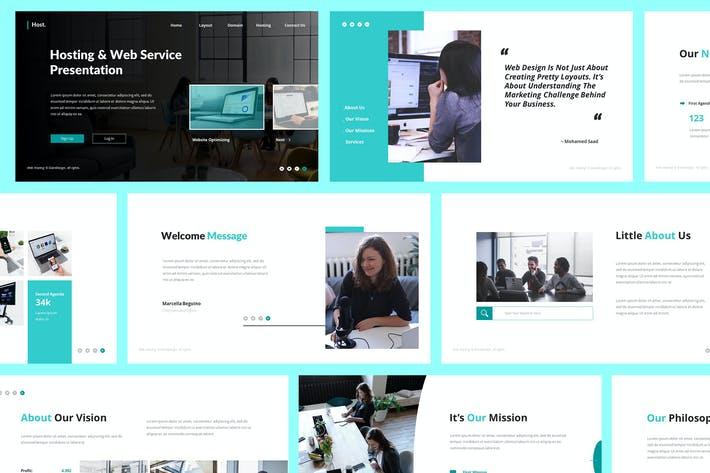 Thumbnail for Host Web Hosting Powerpoint Template