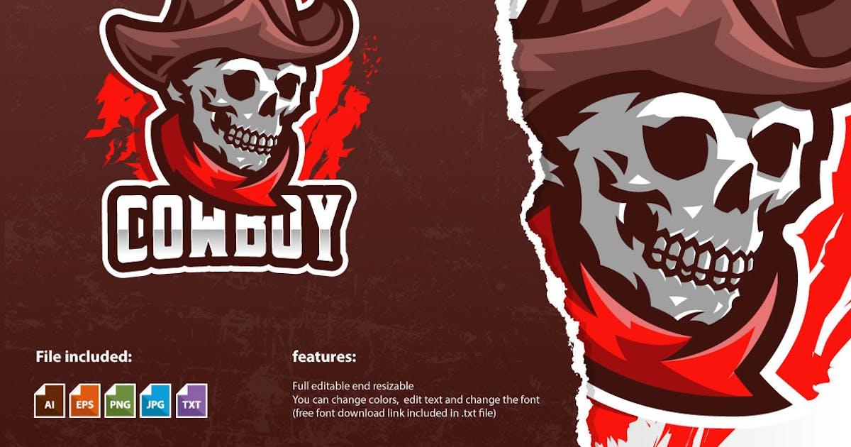 Download Skull Cowboy Mascot Logo Template by MightyFire_STD