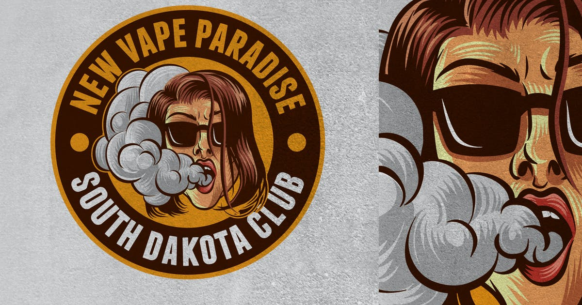 Download Vaping Girl Emblem Logo by Suhandi