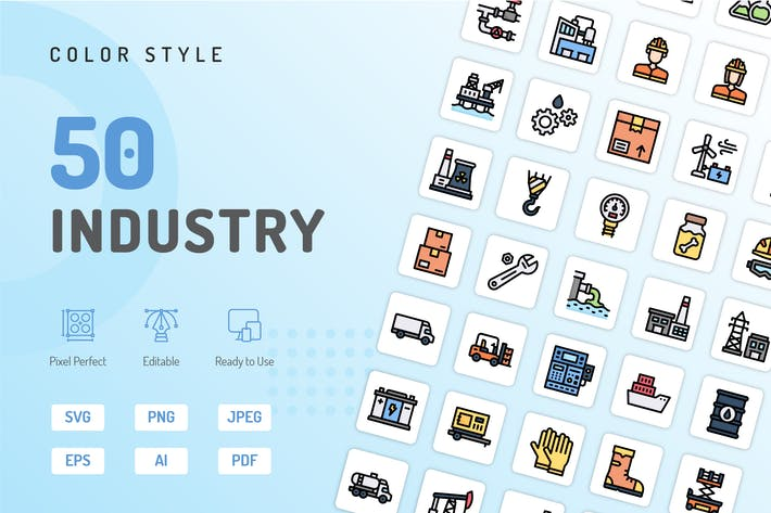 Industry Color Icons