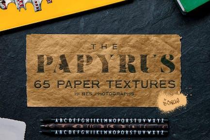 Der Papyrus - 65 Papiertexturen