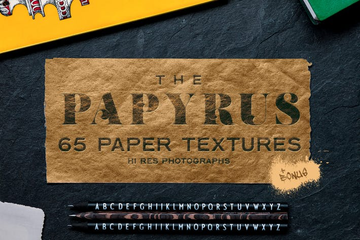 Thumbnail for The Papyrus - 65 Paper Textures