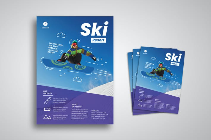 Cover Image For Ski Flyer Promo Template