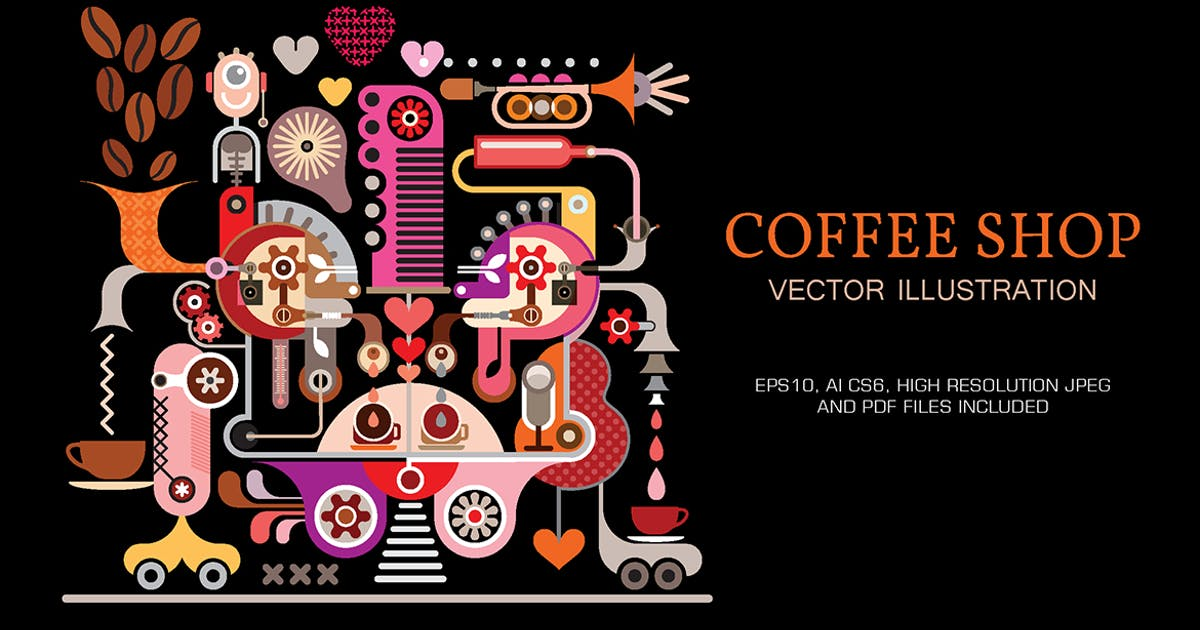 Download Coffee Shop vector illustration by danjazzia