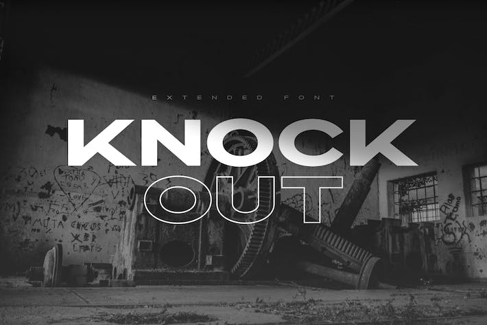 Thumbnail for Knockout - Extended Font Family