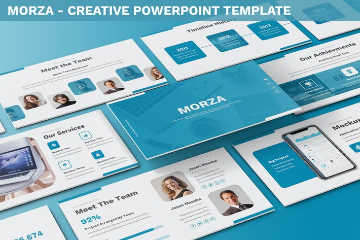 Thumbnail for Morza - Creative Powerpoint Template